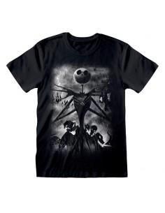 Camiseta Nightmare Before Christmas - Stormy Skies  - Unisex - Talla Adulto TALLA CAMISETA L