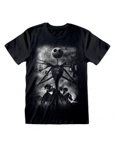 Camiseta Nightmare Before Christmas - Stormy Skies  - Unisex - Talla Adulto TALLA CAMISETA XL