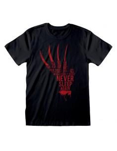 Camiseta Nightmare On Elm St, A - Glove Text - Talla Adulto TALLA CAMISETA XL