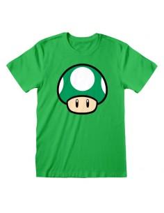 Camiseta Nintendo Super Mario - 1-UP Mushroom - Unisex - Talla Adulto TALLA CAMISETA S