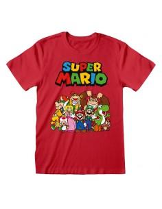 Camiseta Nintendo Super Mario - Main Character Group - Unisex - Talla Adulto TALLA CAMISETA S
