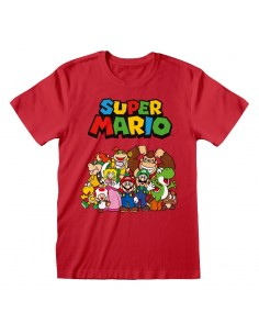 Camiseta Nintendo Super Mario - Main Character Group - Unisex - Talla Adulto TALLA CAMISETA M