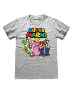 Camiseta Nintendo Super Mario - Vintage Group - Unisex - Talla Adulto TALLA CAMISETA L
