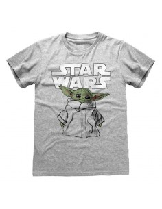 Camiseta Star Wars : Mandalorian, The - Child Sketch - Unisex - Talla Adulto TALLA CAMISETA M