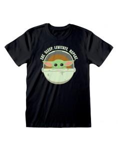 Camiseta Star Wars : Mandalorian, The - Eat Sleep Levitate - Unisex - Talla Adulto TALLA CAMISETA XL