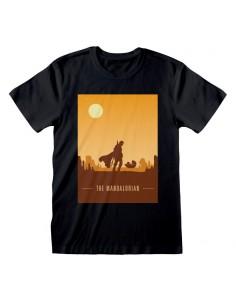 Camiseta Star Wars : Mandalorian, The - Retro Poster - Unisex - Talla Adulto TALLA CAMISETA XL