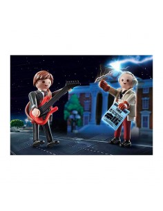 Back to the Future Marty Mcfly y Dr. Emmett Brown - Playmobil