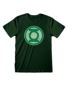 Camiseta DC Green Lantern - Distressed Logo - Unisex - Talla Adulto TALLA CAMISETA L