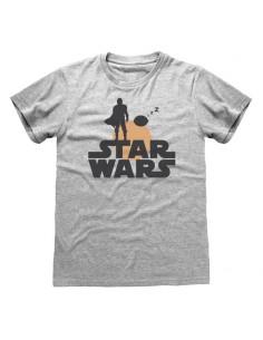 Camiseta Star Wars : Mandalorian, The - Silhouette - Unisex - Talla Adulto TALLA CAMISETA XL