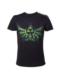 Camiseta Zelda - Green Triforce Logo TALLA CAMISETA XL